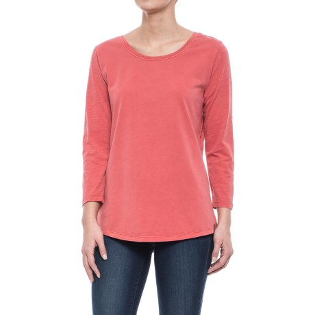 Woolrich First Forks Shirt - 3/4 Sleeve (For Women) in Terracota