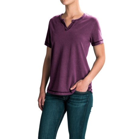 Woolrich First Forks Shirt - Short Sleeve (For Women) in Wisteria