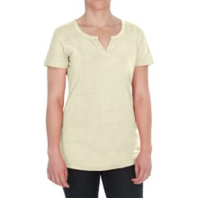 Woolrich First Forks Split-Neck Henley Shirt - Short Sleeve (For Women) in Ecru - Closeouts