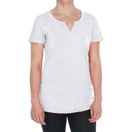 Woolrich First Forks Split-Neck Henley Shirt - Short Sleeve (For Women) in Sea Salt - Closeouts