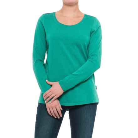 Woolrich First Forks T-Shirt - Long Sleeve (For Women) in Deep Teal - Closeouts