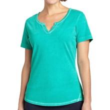 Woolrich First Forks T-Shirt - Split Neck, Short Sleeve (For Women) in Sea Foam - Closeouts