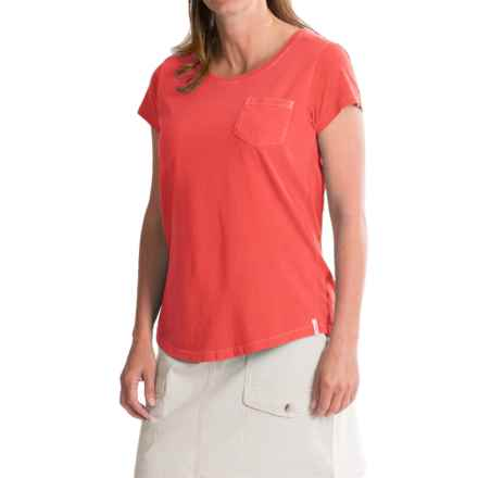 Woolrich First Forks T-Shirt - UPF 50, Short Sleeve (For Women) in Hot Guava - Closeouts