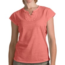 Woolrich First Forks V-Neck Henley Shirt - Short Sleeve (For Women) in Papaya - Closeouts
