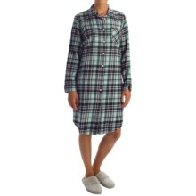 Woolrich First Light Flannel Nightshirt - Long Sleeve (For Women) in Royal Purple - Overstock
