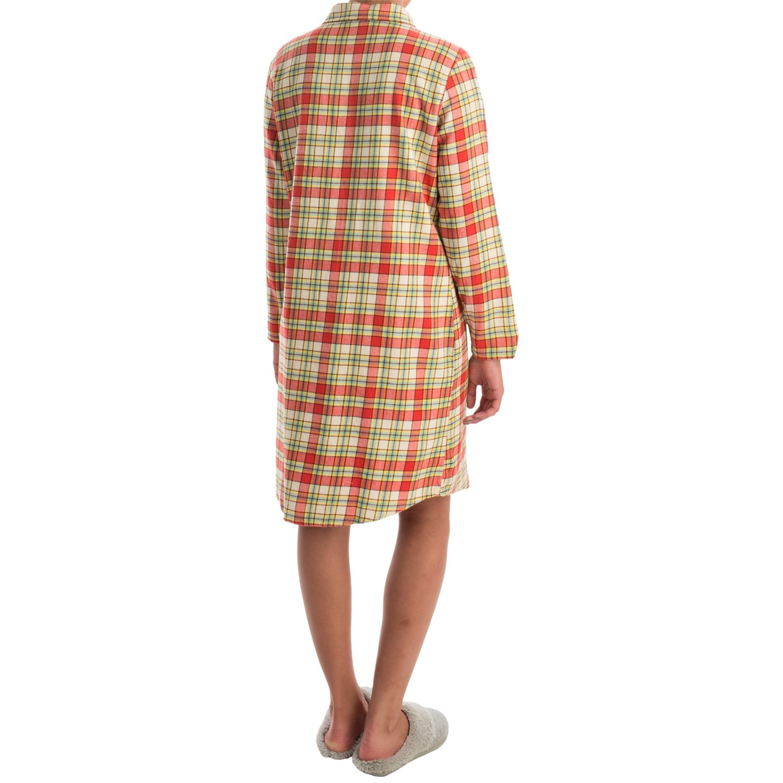 Woolrich first light flannel nightshirt for women for Womens flannel night shirts