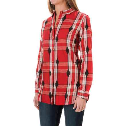 Woolrich First Light Jacquard Shirt - Long Sleeve (For Women) in Old Red Multi - Closeouts