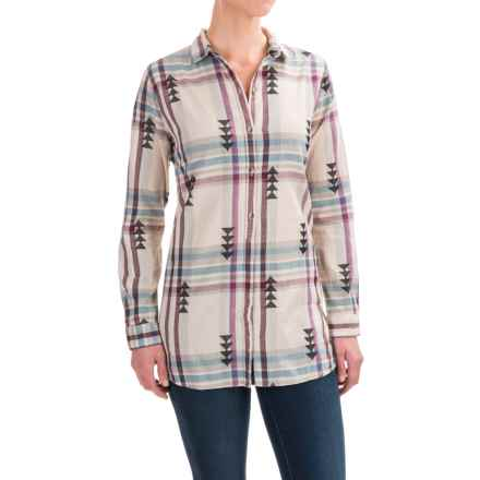 Woolrich First Light Jacquard Shirt - Long Sleeve (For Women) in Silver Gray - Closeouts