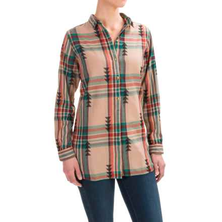 Woolrich First Light Jacquard Shirt - Long Sleeve (For Women) in Warm Taupe - Closeouts