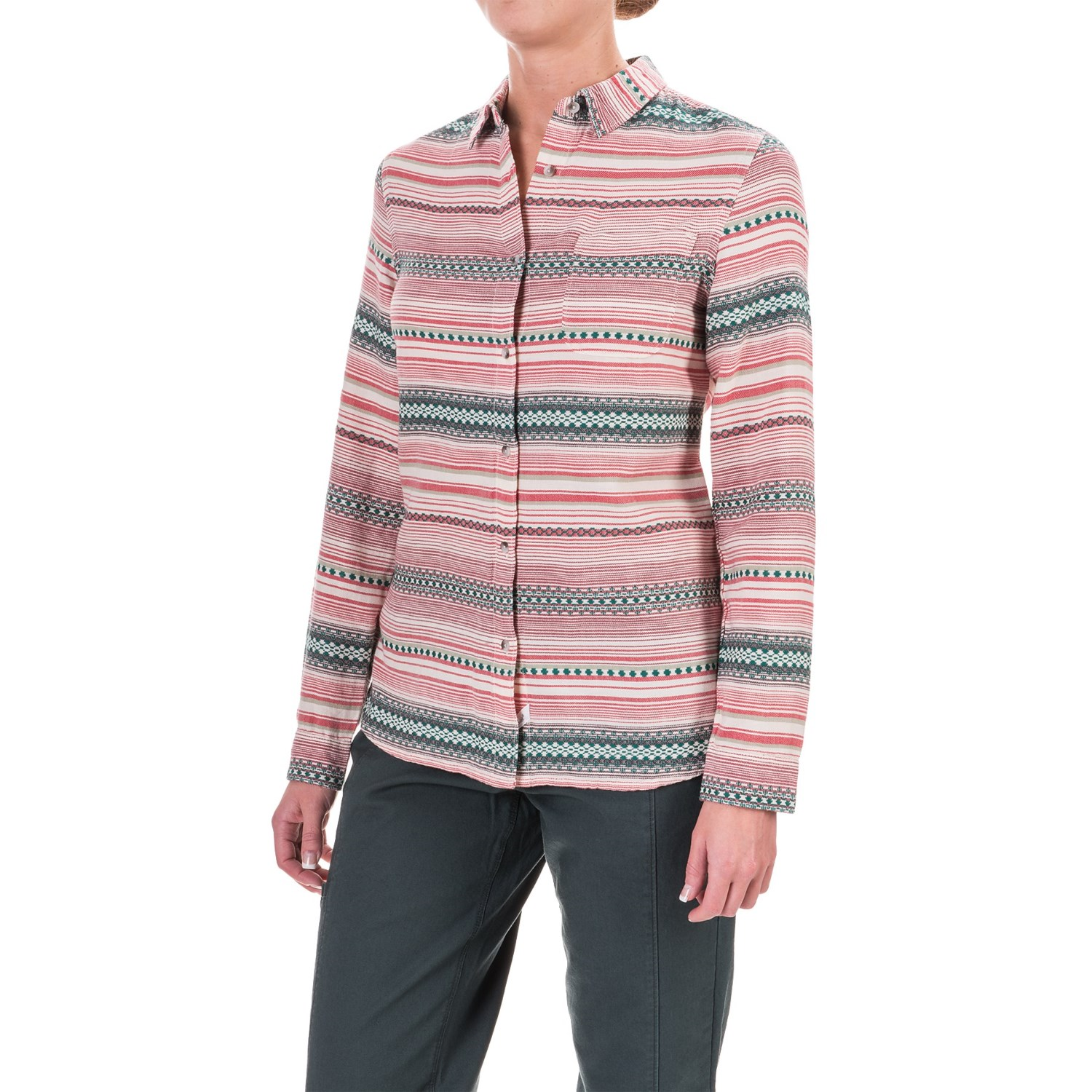 Woolrich First Light Striped Jacquard Shirt (For Women)