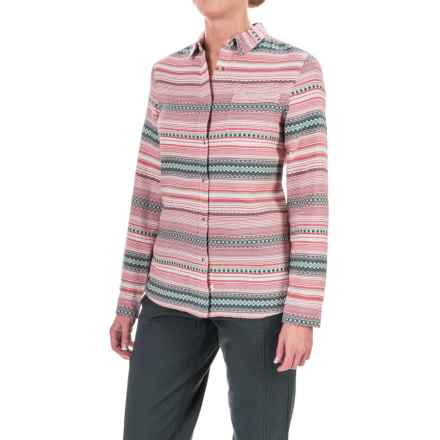 Woolrich First Light Striped Jacquard Shirt - Long Sleeve (For Women) in Wool Cream Stripe - Closeouts