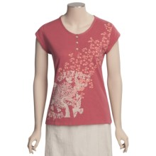 Woolrich Fisher Island T-Shirt - Cotton Slub Jersey, Short Sleeve (For Women) in Soft Ruby - Closeouts