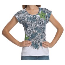 Woolrich Fisher Island T-Shirt - Slub Cotton, Short Cap Sleeve (For Women) in White - Closeouts