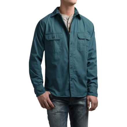 Woolrich Flannel-Lined Shirt Jacket (For Men) in Deep Indigo - Closeouts