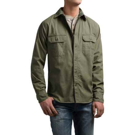 Woolrich Flannel-Lined Shirt Jacket (For Men) in Olive - Closeouts