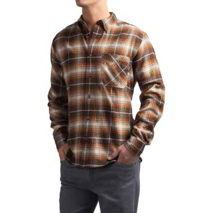 Woolrich Flannel One-Pocket Shirt - Long Sleeve (For Men) in Brown - Closeouts