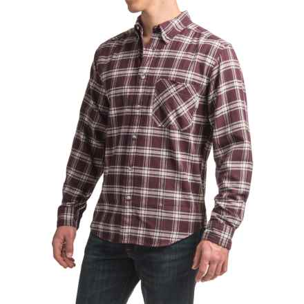 Woolrich Flannel One-Pocket Shirt - Long Sleeve (For Men) in Burgundy - Closeouts