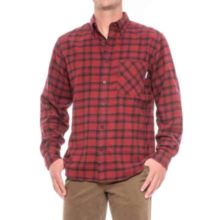 Woolrich Flannel One-Pocket Shirt - Long Sleeve (For Men) in Deep Ruby - Closeouts