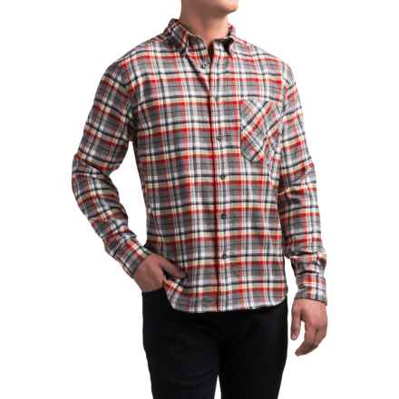 Woolrich Flannel One-Pocket Shirt - Long Sleeve (For Men) in Grey Multi - Closeouts