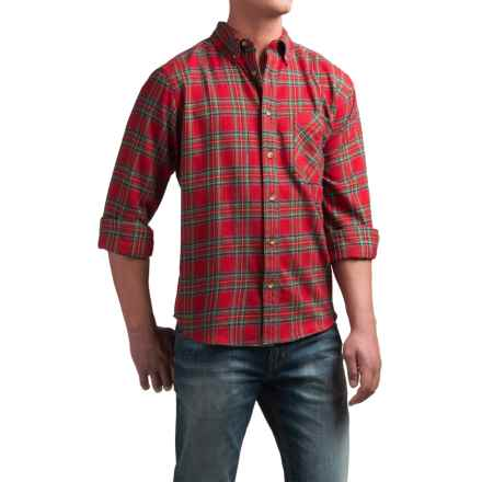 Woolrich Flannel One-Pocket Shirt - Long Sleeve (For Men) in Royal Stewart - Closeouts