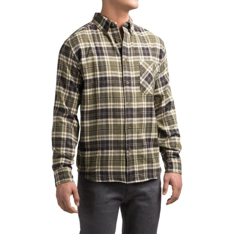 Woolrich Flannel One-Pocket Shirt - Long Sleeve (For Men) in Winter Moss
