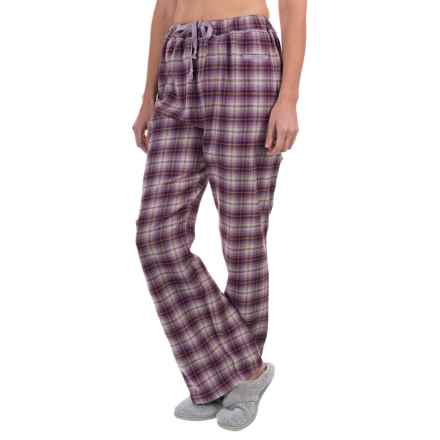 Woolrich Flannel Plaid Pajama Bottoms (For Women) in Eggplant Multi - Closeouts