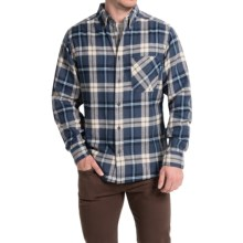 Woolrich Flannel Shirt - Long Sleeve (For Men) in Blue - Closeouts