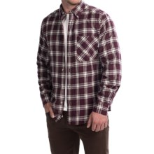 Woolrich Flannel Shirt - Long Sleeve (For Men) in Burgundy - Closeouts