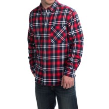 Woolrich Flannel Shirt - Long Sleeve (For Men) in Deep Indigo - Closeouts