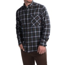 Woolrich Flannel Shirt - Long Sleeve (For Men) in Green - Closeouts