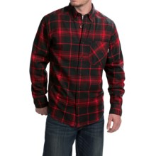 Woolrich Flannel Shirt - Long Sleeve (For Men) in Red - Closeouts