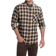 Woolrich Flannel Shirt - Long Sleeve (For Men) in Tan - Closeouts