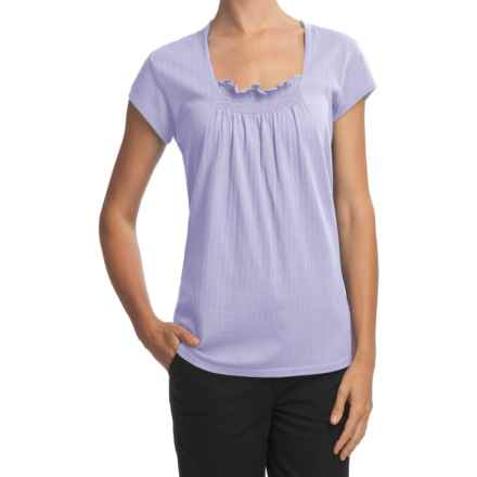 Woolrich Flannery Cotton Pointelle Shirt - Smock Front (For Women) in Light Wisteria - Closeouts