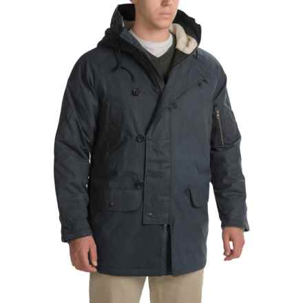 Woolrich Flash Point Parka - Insulated, Waxed Cotton (For Men) in Deep Indigo - Closeouts