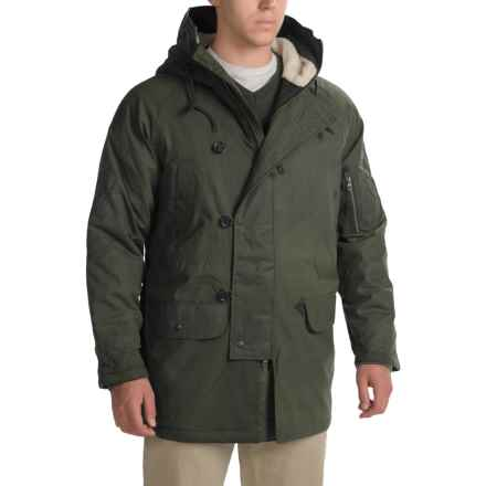 Woolrich Flash Point Parka - Insulated, Waxed Cotton (For Men) in Field Grey - Closeouts