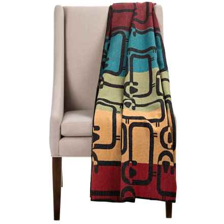 "Woolrich Flock of Sheep Wool Jacquard Throw Blanket - 50x70"" in Multi - Closeouts"