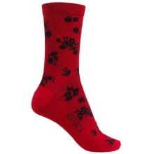 Woolrich Floral Socks - Merino Wool, Crew (For Women) in Old Red - Closeouts