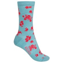 Woolrich Floral Socks - Merino Wool, Crew (For Women) in Stillwater - Closeouts