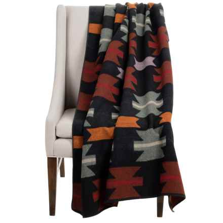 "Woolrich Forest Ridge Wearable Throw Blanket/Poncho - 50x70"", Wool Blend in Geronimo Jacquard - Closeouts"