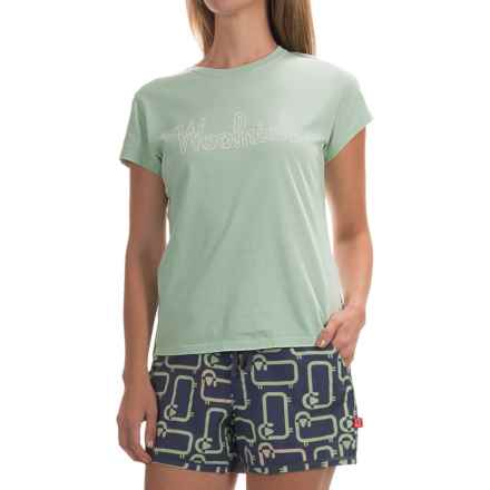 Woolrich Four Corners Graphic T-Shirt - Short Sleeve (For Women) in Fresh Mint - Closeouts