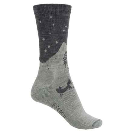 Woolrich Fox Socks - Merino Wool, Crew (For Women) in Mid Grey/Soft Grey - Closeouts