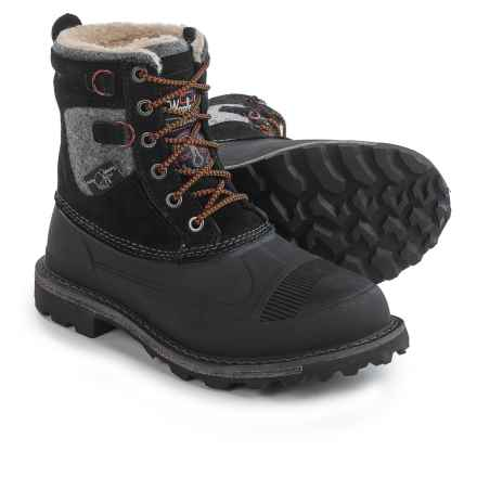 Woolrich Fully Wooly Lace Pac Boots - Waterproof, Insulated (For Men) in Black - Closeouts