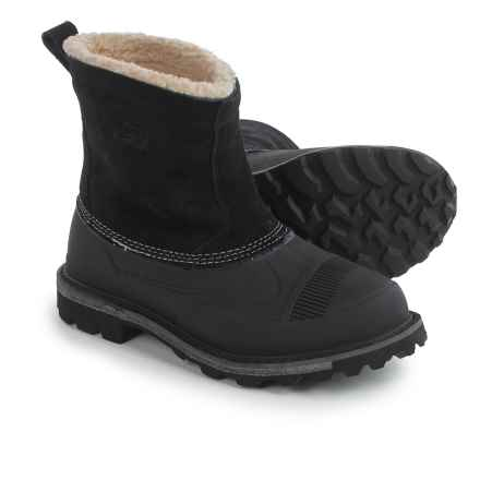 Woolrich Fully Wooly Slip-On Pac Boots - Waterproof, Insulated (For Men) in Black - Closeouts