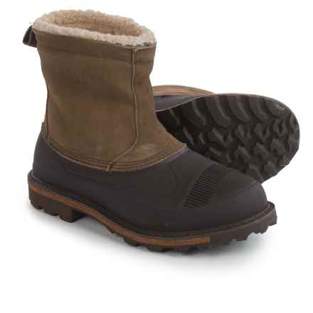 Woolrich Fully Wooly Slip-On Pac Boots - Waterproof, Insulated (For Men) in Java - Closeouts