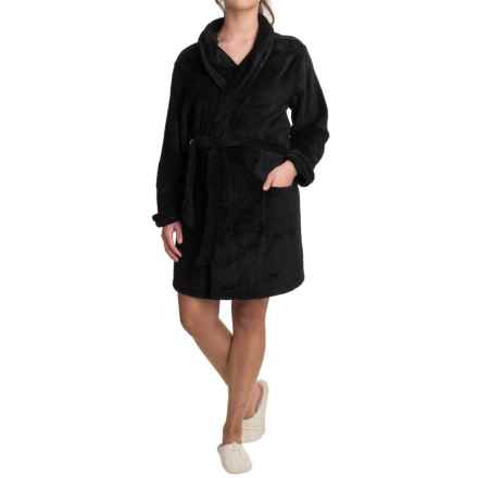 Woolrich Furry Fleece Robe - Shawl Collar (For Women) in Black - Closeouts