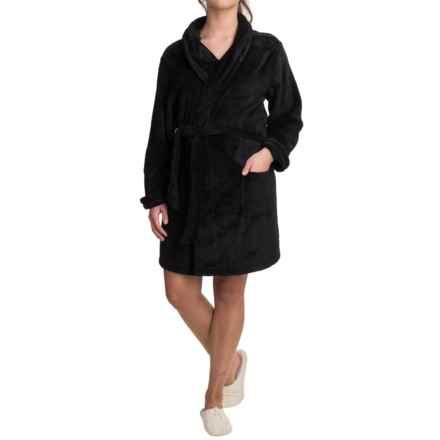 Woolrich Furry Fleece Robe - Shawl Collar (For Women) in Black - Closeouts