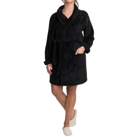 Woolrich Furry Fleece Robe - Shawl Collar (For Women) in Black