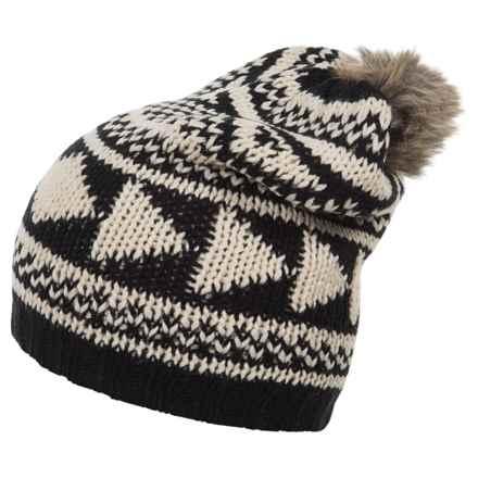 Woolrich Geometric Slouchy Hat (For Women) in Black - Closeouts