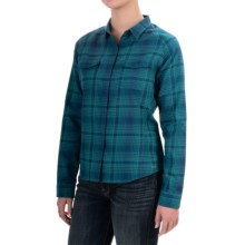 Woolrich Getaway Shirt - Snap Front, Long Sleeve (For Women) in Atlantic - Closeouts