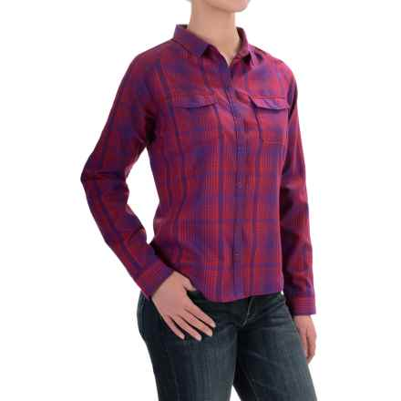 Woolrich Getaway Shirt - Snap Front, Long Sleeve (For Women) in Royal Purple - Closeouts